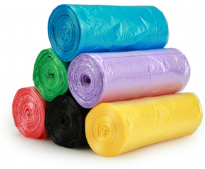 Plastic garbage bags exporter
